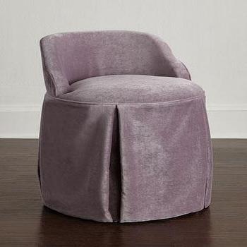 White Skirted Vanity Chair and Mirrored Vanity