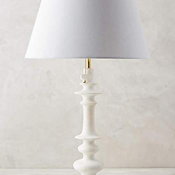 Orbital White Marble Table Lamp Ensemble