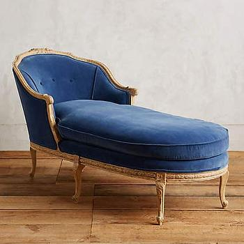 Interiors eclectic rest spot for Blue chaise lounge