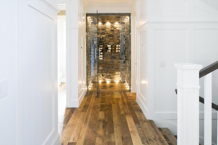 Beach House Foyer With Wine Cellar Cottage Entrance Foyer
