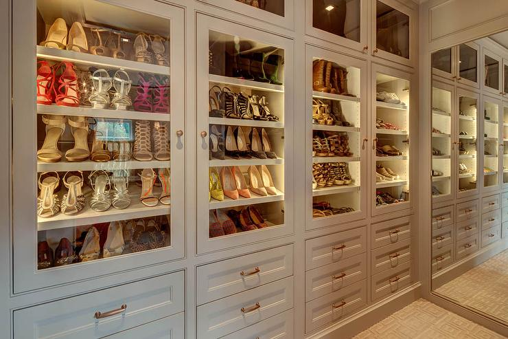 Glass Shoe Shelves Design Ideas
