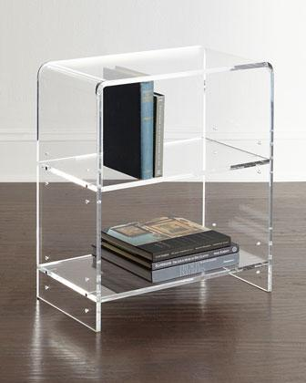 Rounded Edges Clear Acrylic Bookcase