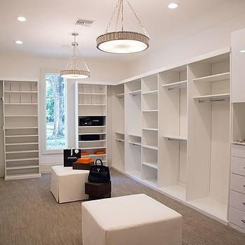 Walk In Closet with Two Pendants
