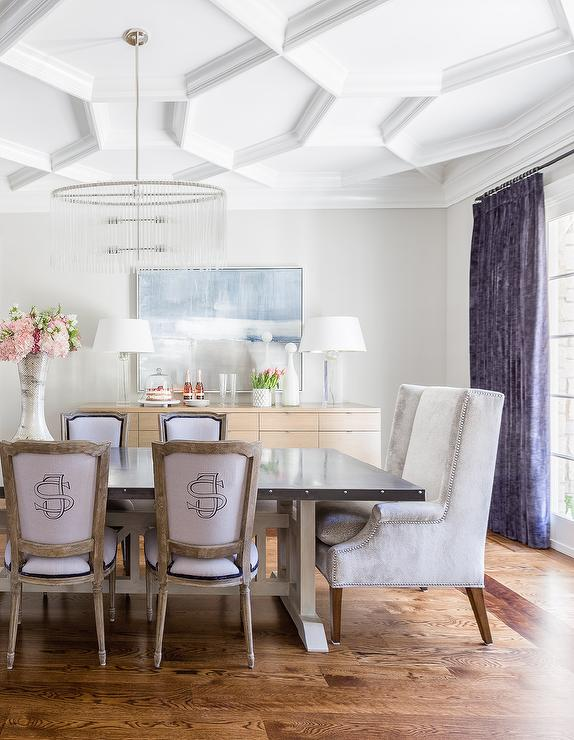 Geometric Coffered Ceiling Design Ideas : geometric coffered ceiling gray velvet wingback chairs from www.decorpad.com size 574 x 740 jpeg 65kB