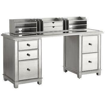 Charmant Hayworth Mirrored Storage Desk. «