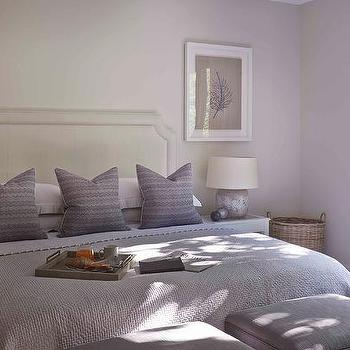 Purple and Gray Bedroom with Stools at Foot of The Bed & Foot Of Bed Stools Design Ideas islam-shia.org