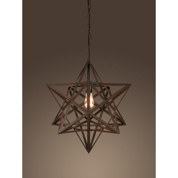 Tamar 1 light rusty style edison red chandelier aloadofball Image collections