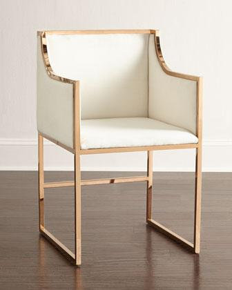 Wren White And Brass Dining Chair