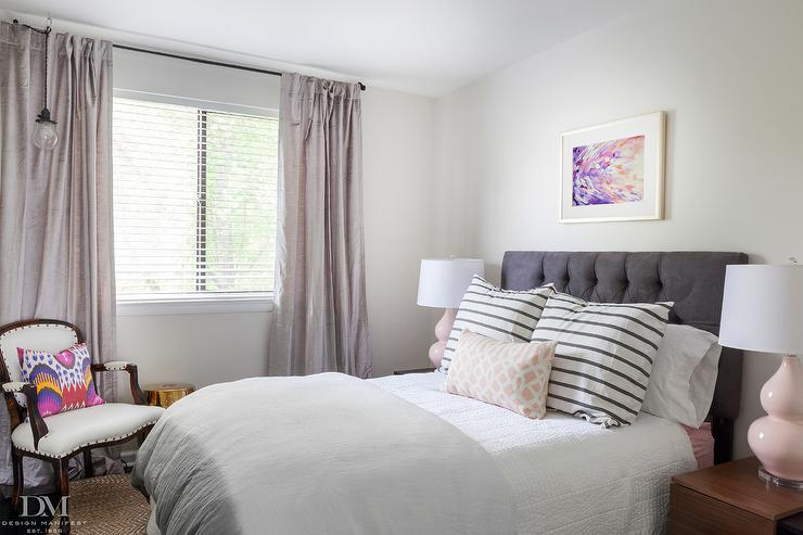 Pink And Gray Bedrooms Design Ideas