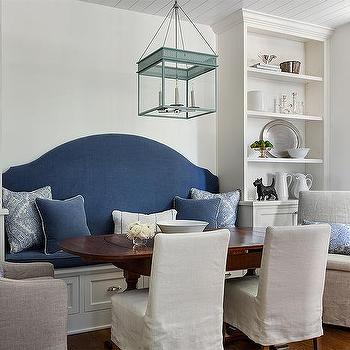 Built In Dining Bench With Tall Shelving Units