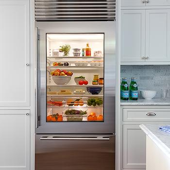 Glass Front Fridge Design Ideas