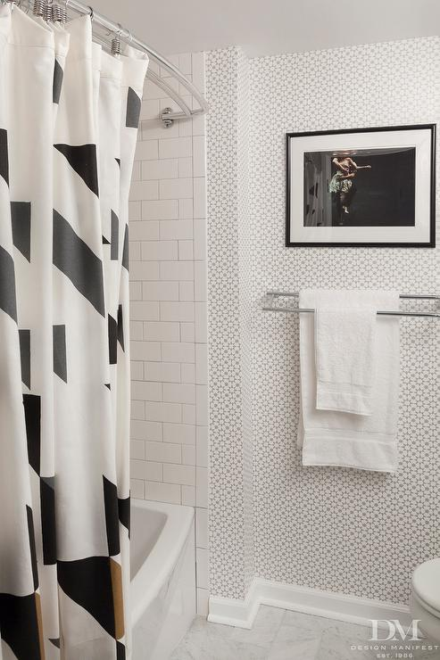 Silver And Black Bathroom With Schumacher Medina Silver