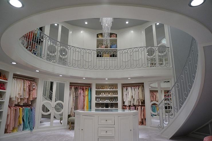 Walk In Closet With Spiral Staircase
