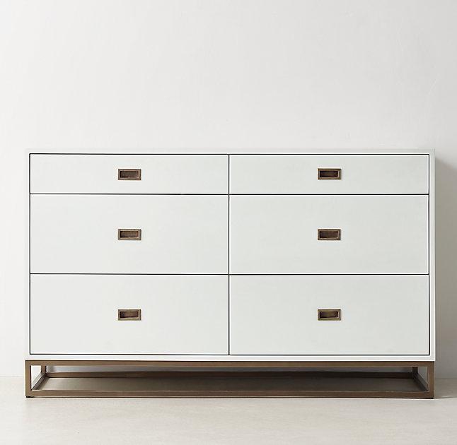 Avalon White Wide Dresser