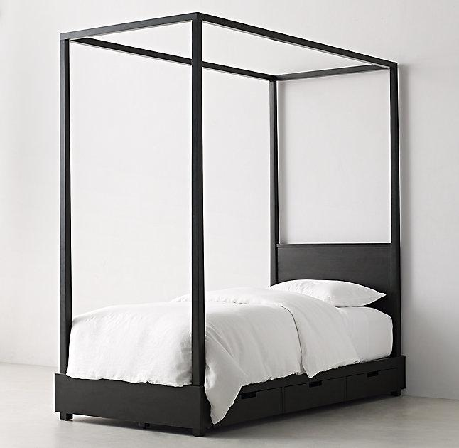 callum 6 drawer storage black canopy bed - Black Canopy 2015