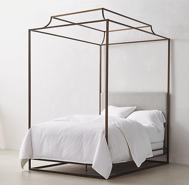 Brass Canopy Bed Frame Of Ellipse Metal Canopy Bed West Elm