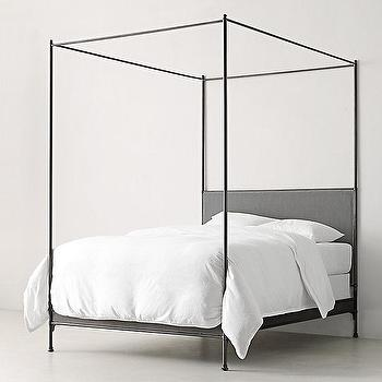 caleigh black iron canopy bed - Black Canopy 2015