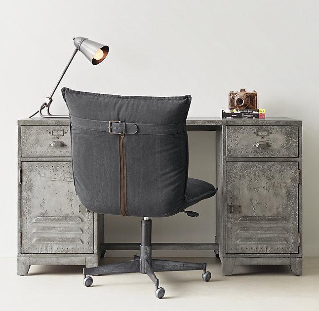 Pottery Barn Style Locker Desk. Kemp Distressed Silver Storage Desk Pottery  Barn Style Locker E