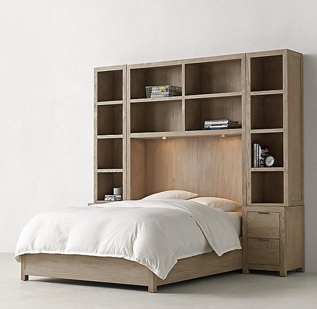 Bedroom Sets Restoration Hardware annistyn metal accent gray wood bed