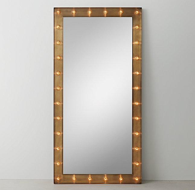 Illuminated Leaner Mirror Dark Steel Products Bookmarks