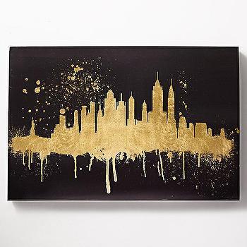 Art/Wall Decor - Skyline Metallic Gold Art