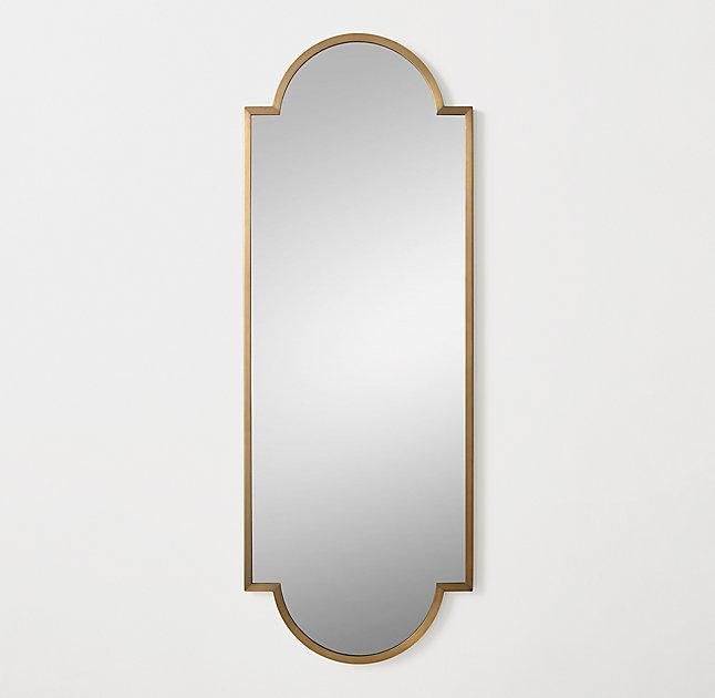 Minimalist Metal Wrapped Brass Full Mirror