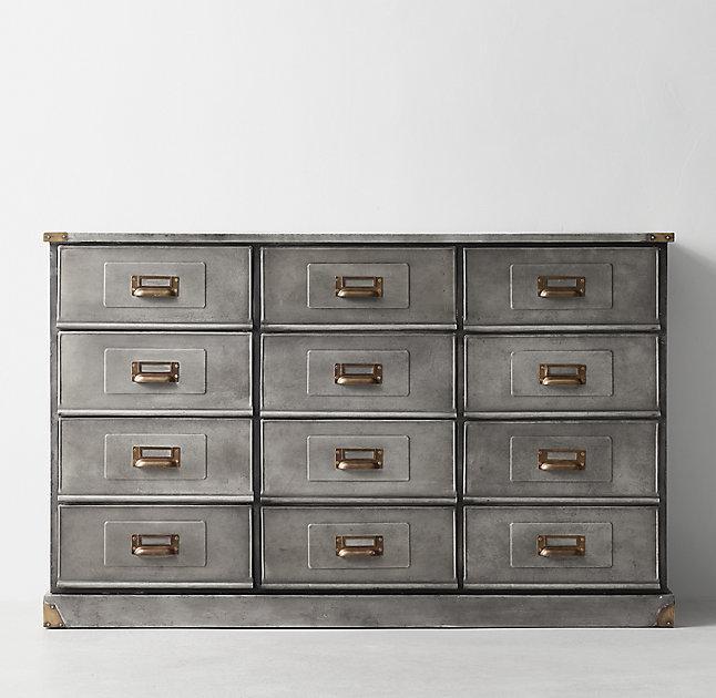 Niles Aged Steel Wide Dresser