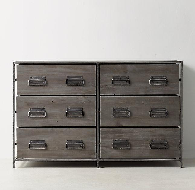 Wexler Brushed Grey Wide Dresser