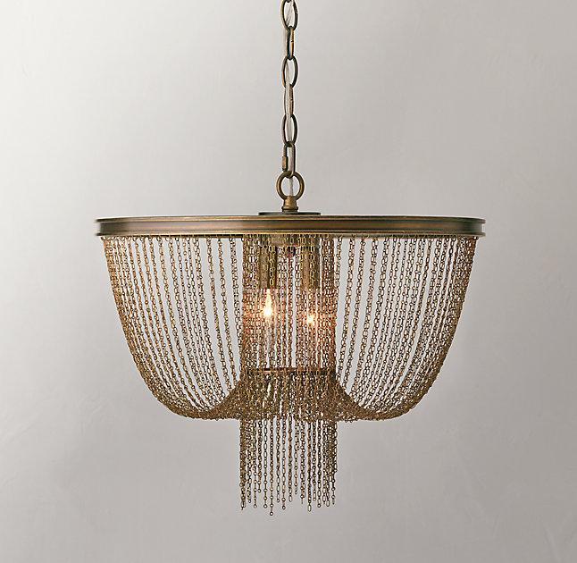 Allegra aged brass pendant aloadofball Image collections