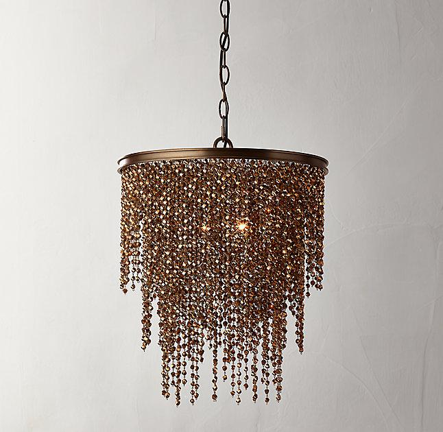 Athena Copper Crystal Chandelier