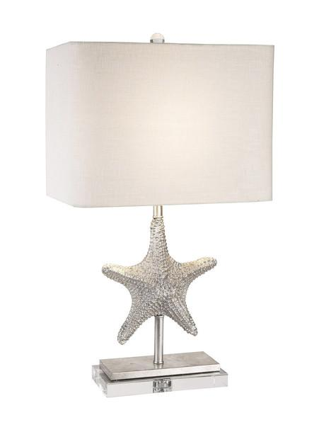 starfish abbey table medium lampwork stunning wells clear classic of image lamp on seeded amber lighting size glass