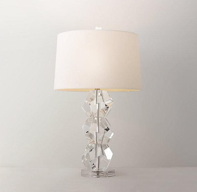 Fiona clear crystal table lamp base mozeypictures Image collections