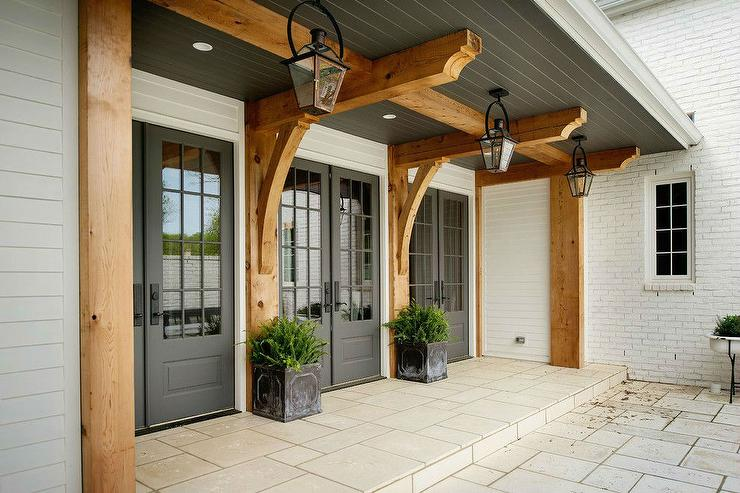 Merveilleux Gray Double Doors To Covered Patio