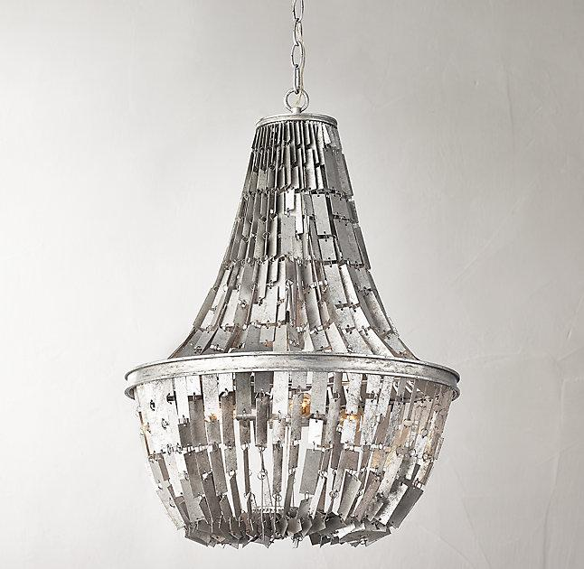 Silver chandelier lexi silver chandelier mozeypictures Image collections