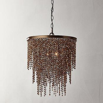 Athena Copper Crystal Chandelier & Acrylic Beads Copper Chandelier - Products bookmarks design ...