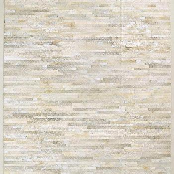 metallo natural cowhide rug