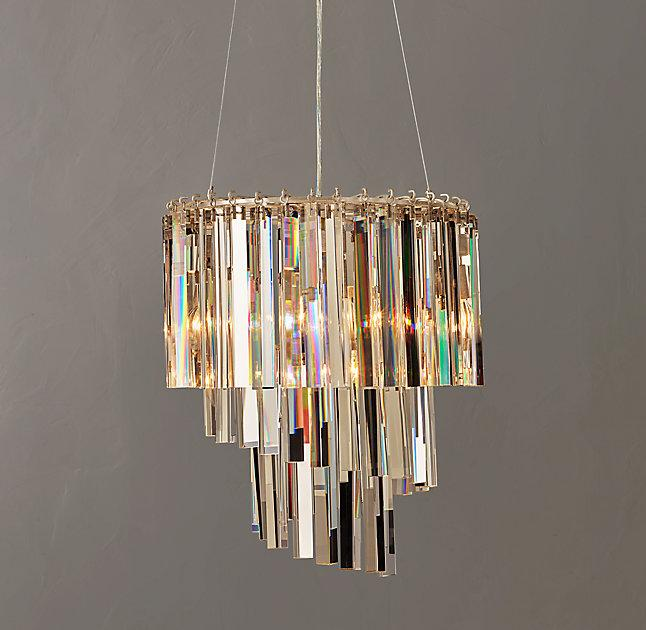 Vivienne silver crystal spiral chandelier mozeypictures Choice Image