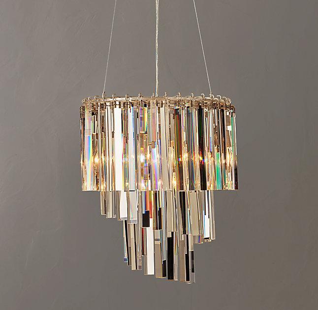 Silver crystal spiral chandelier vivienne silver crystal spiral chandelier mozeypictures Choice Image