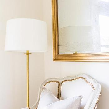Gold floor lamp design ideas alyssa rosenheck french reading corner with gold floor lamp mozeypictures Image collections
