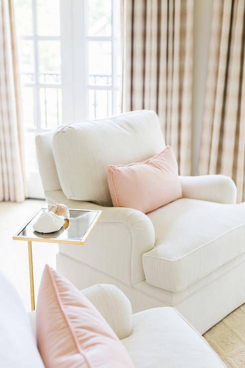 alyssa rosenheck white and pink french bedroom sitting area