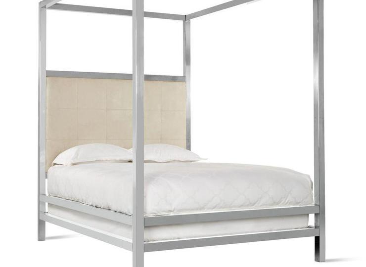 Silver Canopy Bed Frame Part - 35: View Full Size