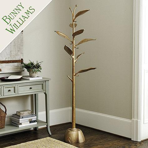 Gold Bunny Williams Metal Tree Coat Rack