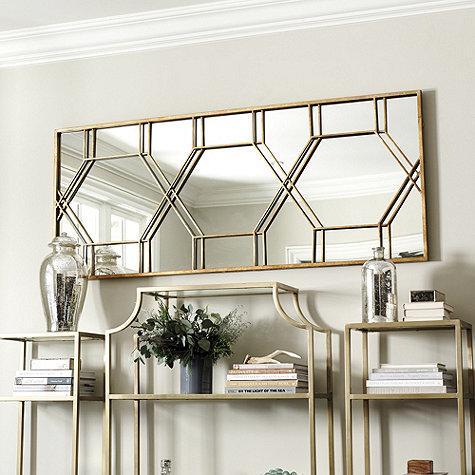 Geometric Wall Mirror gold geometric wall mirror - products, bookmarks, design