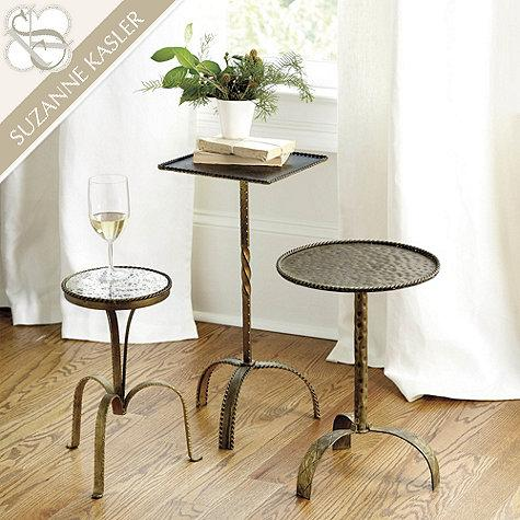 Antique Gold Suzanne Kasler Metal Accent Tables. Gold Suzanne Kasler Metal Accent Tables
