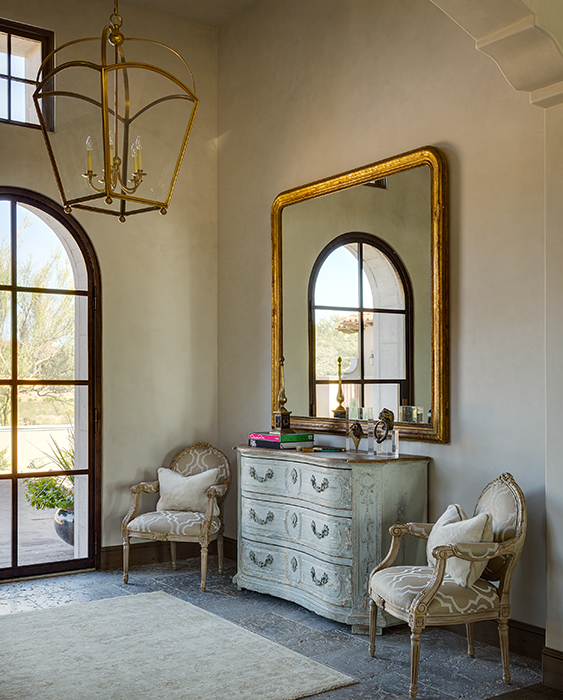 Gold Foyer Mirror : French foyer with brass lantern and mirror