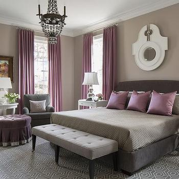 Gray Purple Bedroom purple and gray bedroom sitting area design ideas