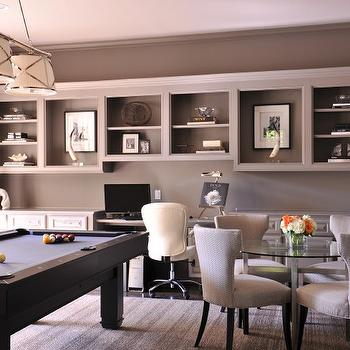 Exceptionnel Gray Office With Pool Table