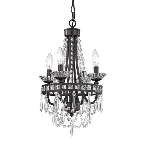 Mini black crystal chandelier sterling mini black crystal chandelier aloadofball Image collections