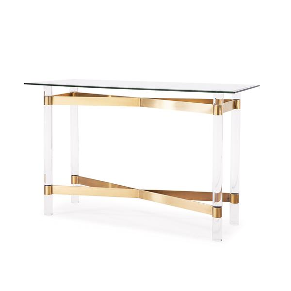 townsend antique gold console table view full size