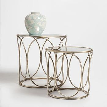 Two set gold quatrefoil accent table for Mesas auxiliares zara home